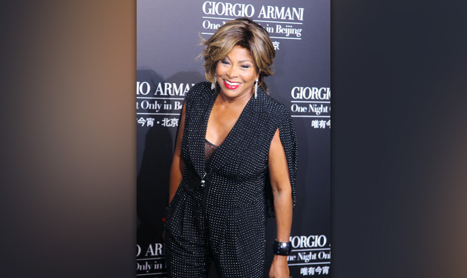 BEIJING, CHINA - MAY 31:  (CHINA OUT) Singer Tina Turner attends Armani fashion show at 798 Art Zone on May 31, 2012 in Beiji