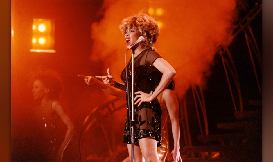BIRMINGHAM, UNITED KINGDOM - DECEMBER 12: Tina Turner performs on stage at The National Exhibition Centre during her 'Wildest