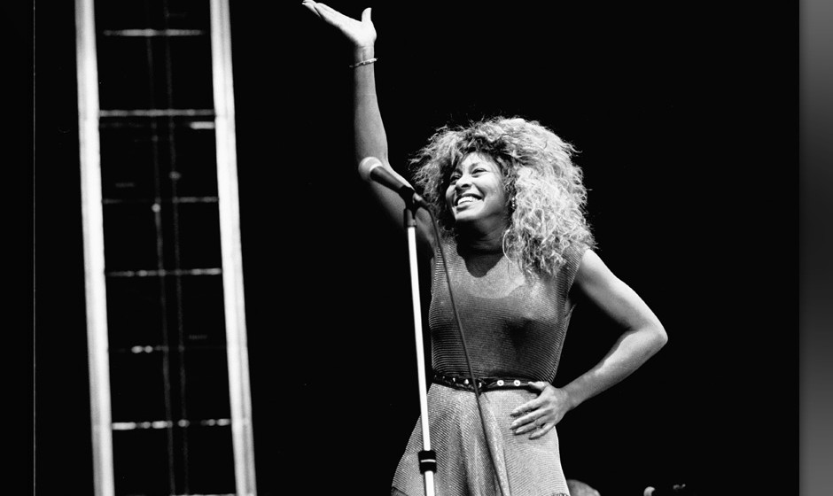 Tina Turner, vocal, performs at the Feijenoord Stadium in Rotterdam, the Netherlands on 23th June 1990. (Photo by Frans Schel