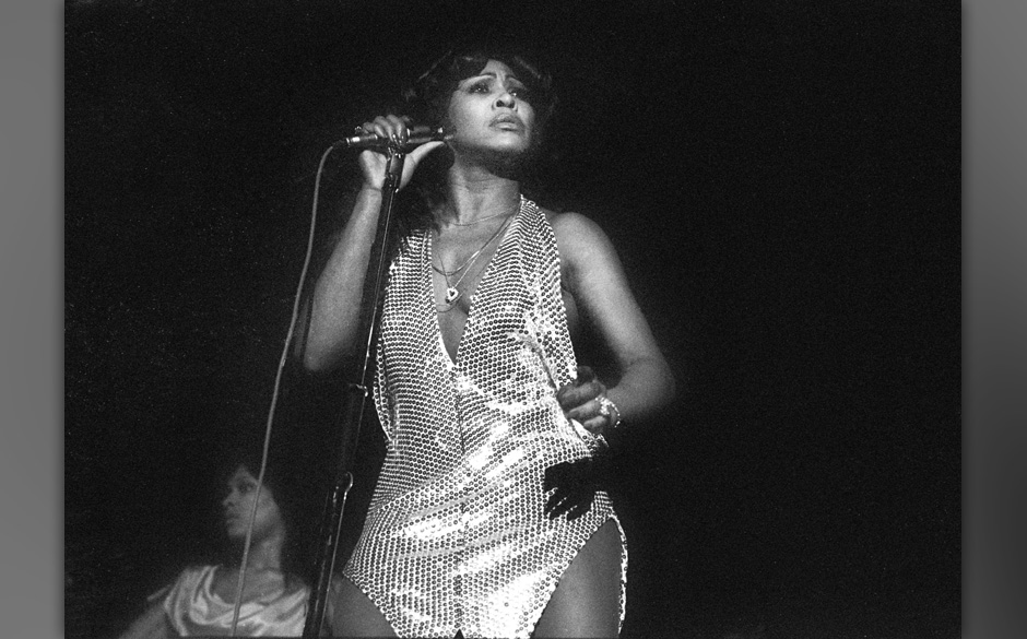 Tina Turner performs on stage with Ike and Tina Turner in Amsterdam, Netherlands, 1971. (Photo by Gijsbert Hanekroot/Redferbs