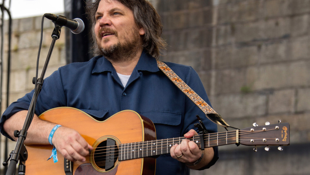 NEWPORT, RI - JULY 27:  Jeff Tweedy performs during the 2014 Newport Folk Festival at Fort Adams State Park on July 27, 2014