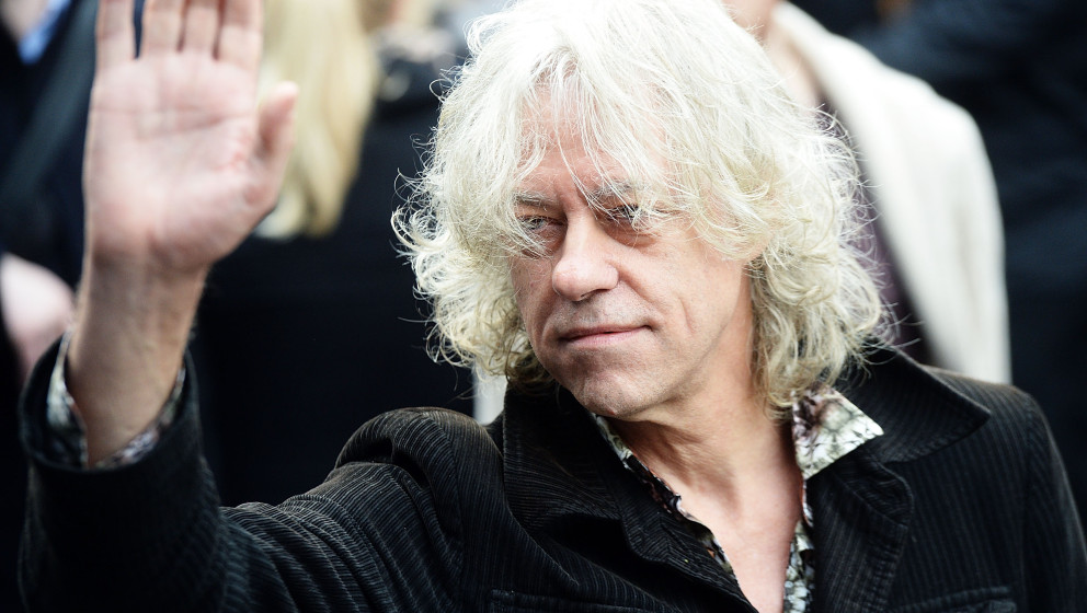 LONDON, ENGLAND - NOVEMBER 15:  Bob Geldof attends to record the Band Aid 30 single at SARM Studios on November 15, 2014 in L