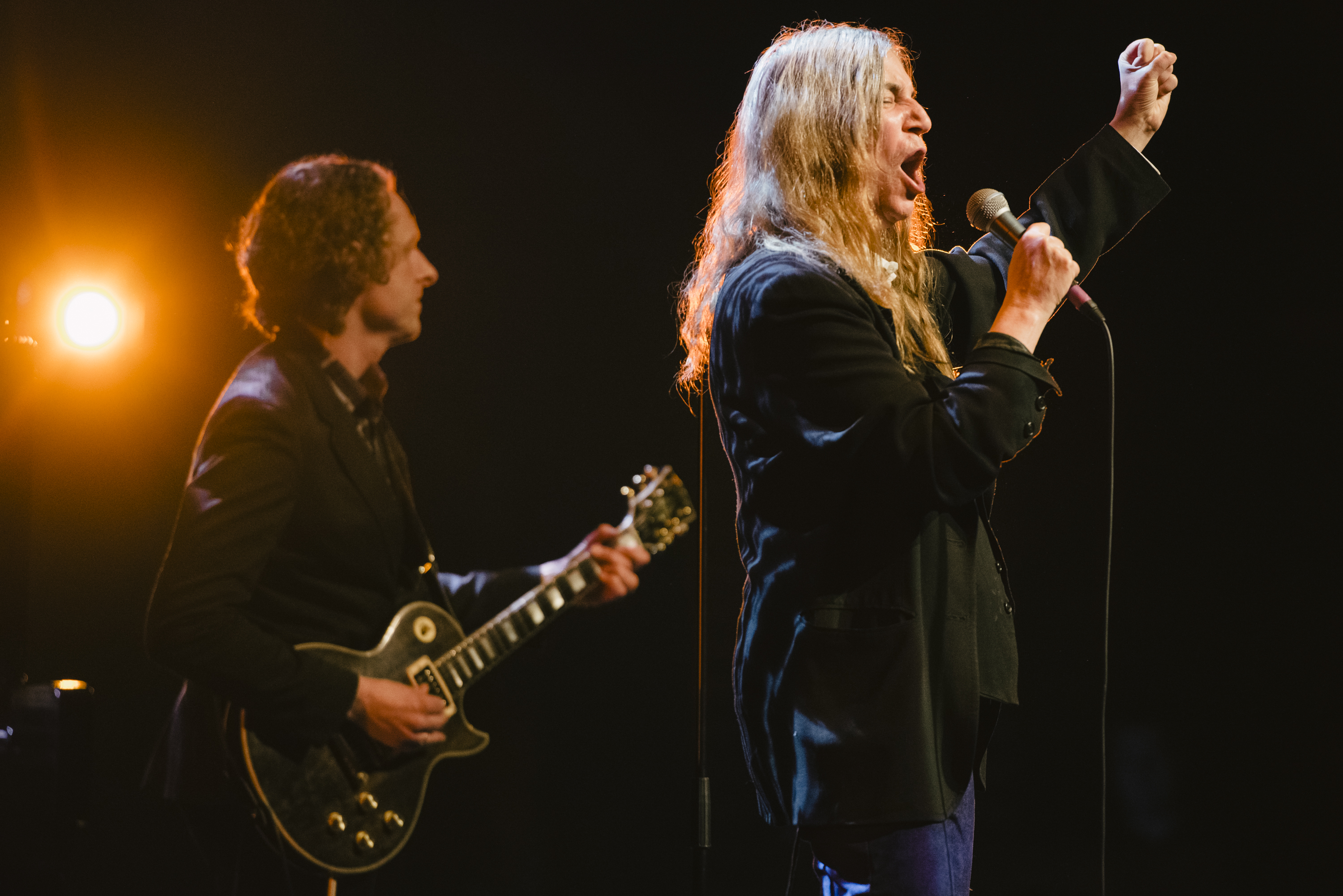 REYKJAVIK, ICELAND - MARCH 18:  Patti Smith performs at the 'Stopp - Let's Protect the Park' nature benefit concert at Harpa