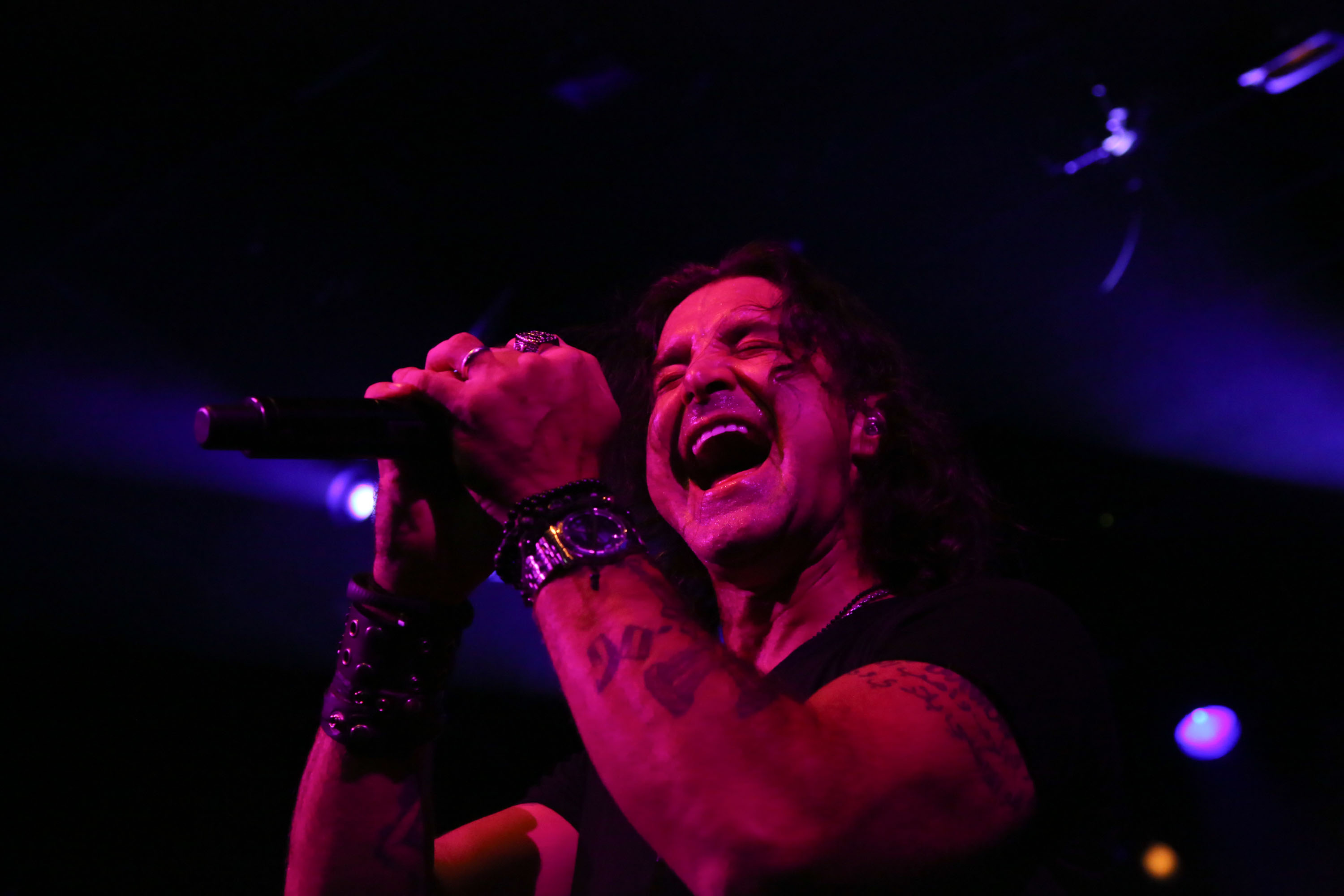 NEW YORK, NY - APRIL 02:  Scott Stapp performs at Irving Plaza on April 2, 2014 in New York City.  (Photo by Johnny Nunez/Wir