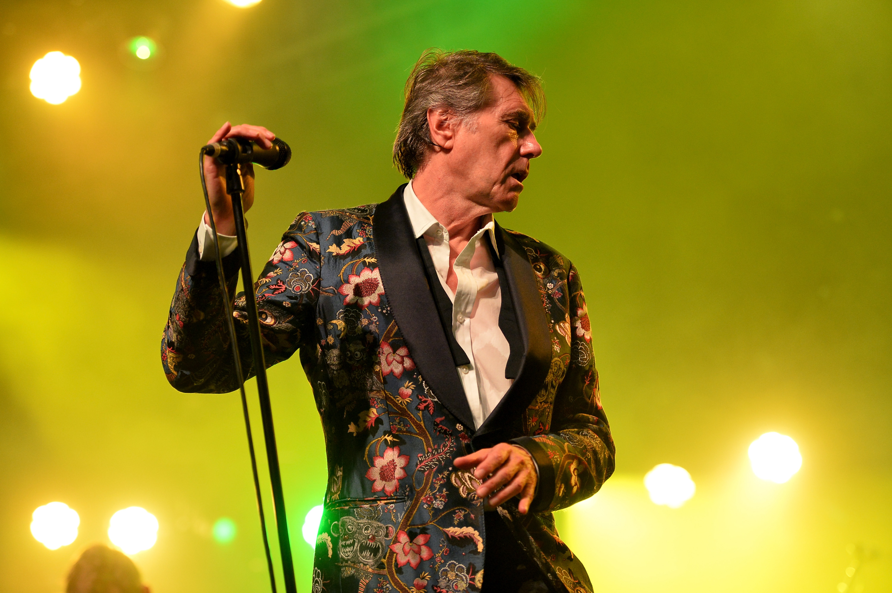 INDIO, CA - APRIL 18:  Singer Bryan Ferry performs onstage during day 1 of the 2014 Coachella Valley Music & Arts Festiva