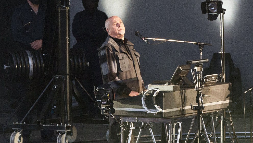 BERLIN, GERMANY - MAY 25: British singer Peter Gabriel performs live during a concert at the Waldbuehne on May 25, 2014 in Be