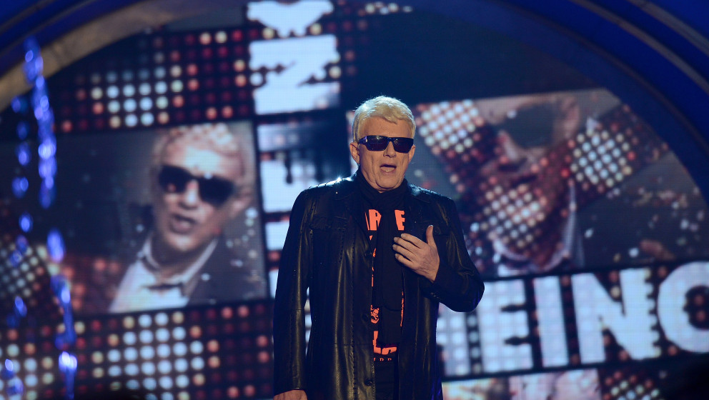 ERFURT, GERMANY - MAY 31:  Heino performs 'Das Sommerfest am See' TV-Show on May 31, 2014 in Erfurt, Germany.  (Photo by Luca