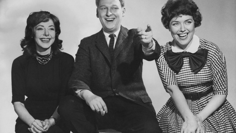 Left to right: American director, screenwriter and actress , Elaine May, American director, screenwriter and comedian Mike Ni