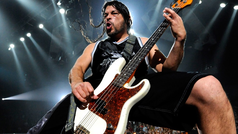 LAS VEGAS - DECEMBER 05:  Metallica bassist Robert Trujillo performs during a sold-out concert at the Mandalay Bay Events Cen