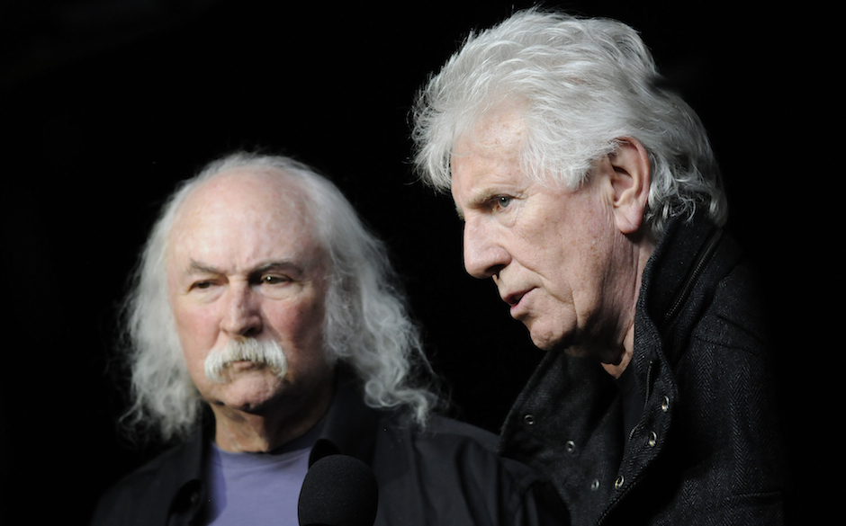 NEW YORK, NY - NOVEMBER 10: David Crosby and Graham Nash attend the 7th Annual Focus for Change Benefit for WITNESS at the Ro