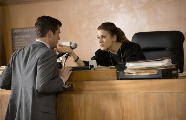 BAD JUDGE -- 'Pilot' -- Pictured: (l-r) John Ducey as Tom, Kate Walsh as Rebecca -- (Photo by: John Fleenor/NBC)