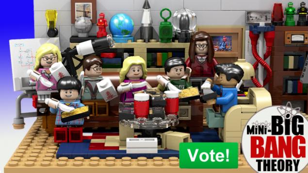 Bald als haptisches Produkt erhältlich: The BIg Bang Theory als LEGO-Satz.