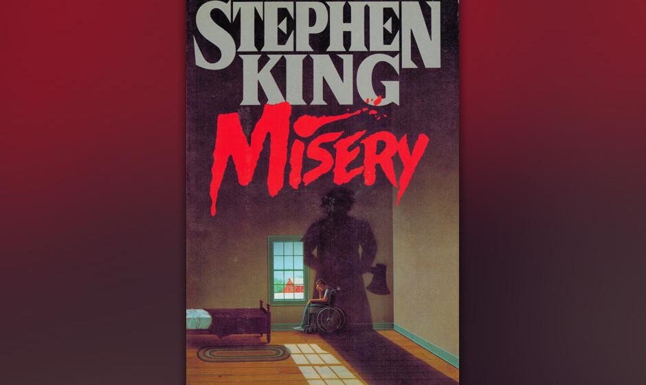 2. Misery (1987).  Die Angst vor seiner eigenen Popularität, aber auch vor Kontrollverlust ließ King diesen Roman über ein