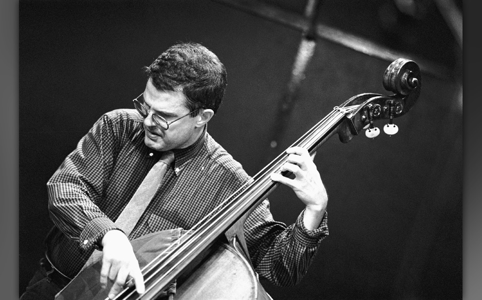 AMSTERDAM, NETHERLANDS-MAY 18TH: Charlie Haden, bass, performs  at the BIM Huis  on 18th may 1989 in Amsterdam, the Netherlan