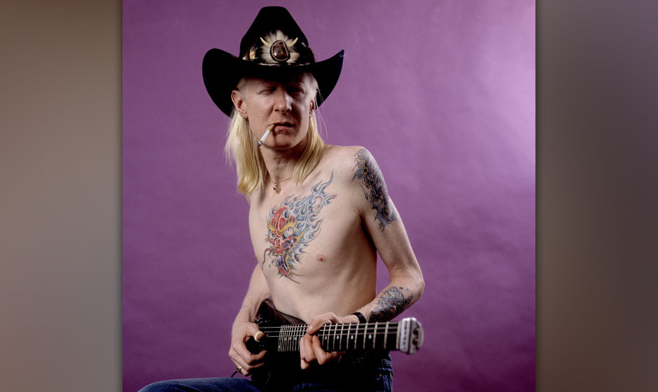 Johnny Winter on 2/27/84 in Chicago, Il. (Photo by Paul Natkin/WireImage)