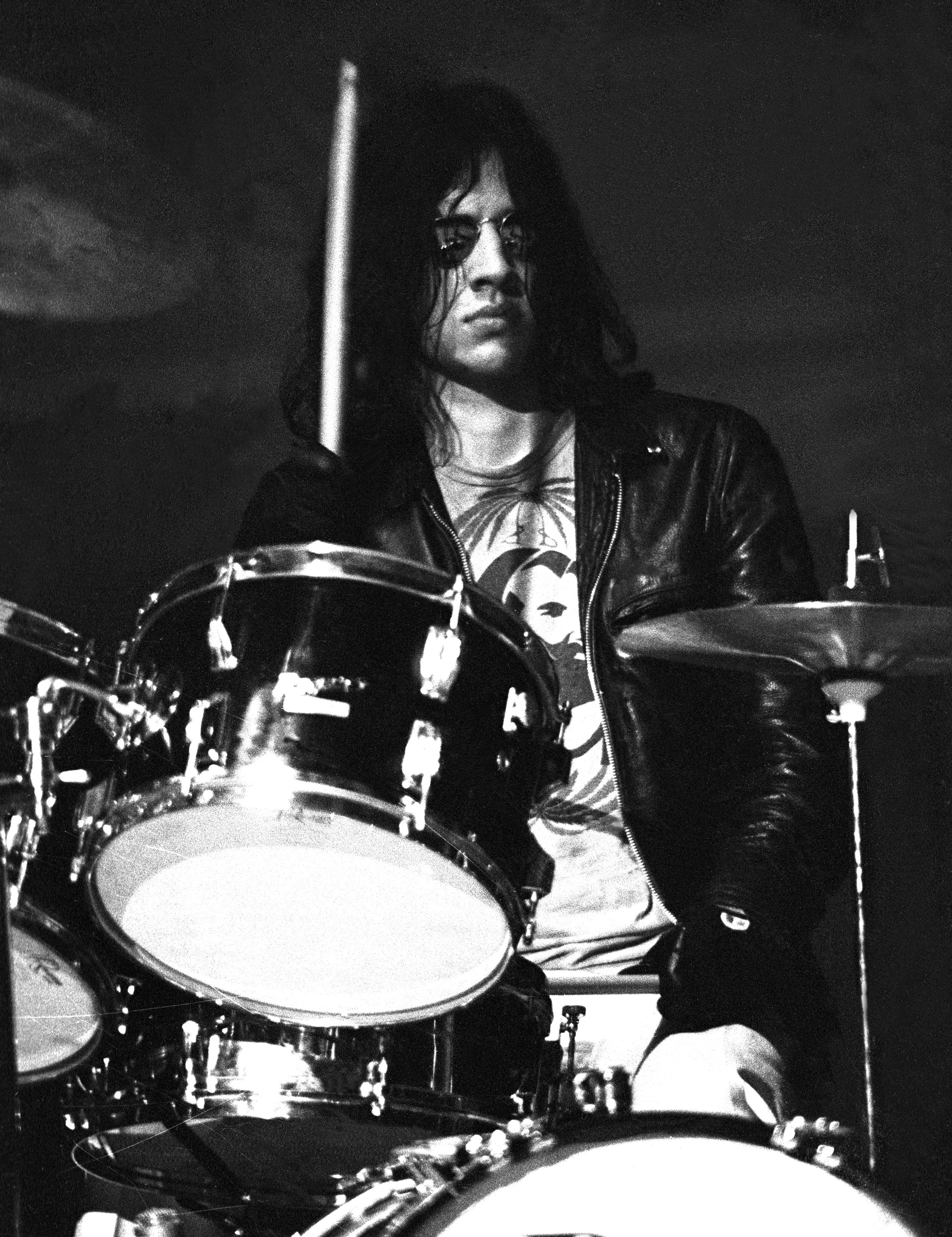 ANN ARBOR, MI - 1970:  Drummer Scott Asheton of Iggy andThe Stooges performs in 1970 in Ann Arbor, Michigan. (Photo by Tom Co