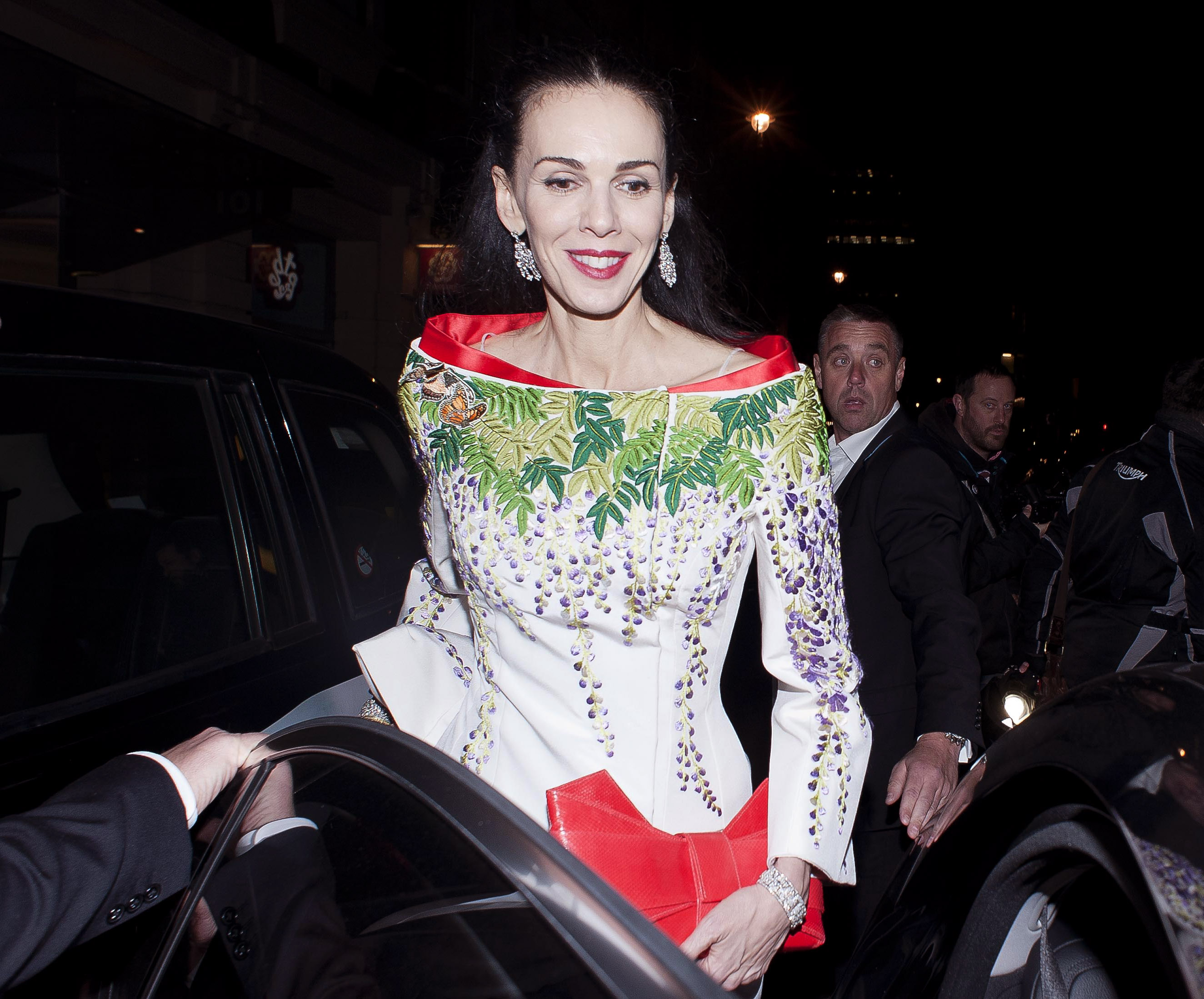 LONDON, UNITED KINGDOM - DECEMBER 02: L'Wren Scott is sighted leaving the British Fashion Awards 2013 on December 2, 2013 in