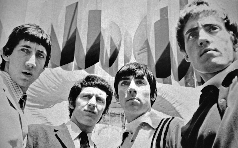 The Who pose for a group portrait, London, 1965. L-R Pete Townshend, John Entwistle, Keith Moon and Roger Daltrey. (Photo by
