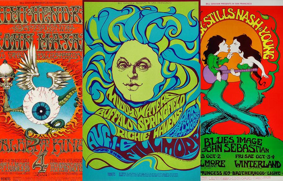 Wolfgang Vaults Konzertposter haben alles, was nur die 60er und 70er Jahre an Popkultur bieten konnten. In diversen Varianten