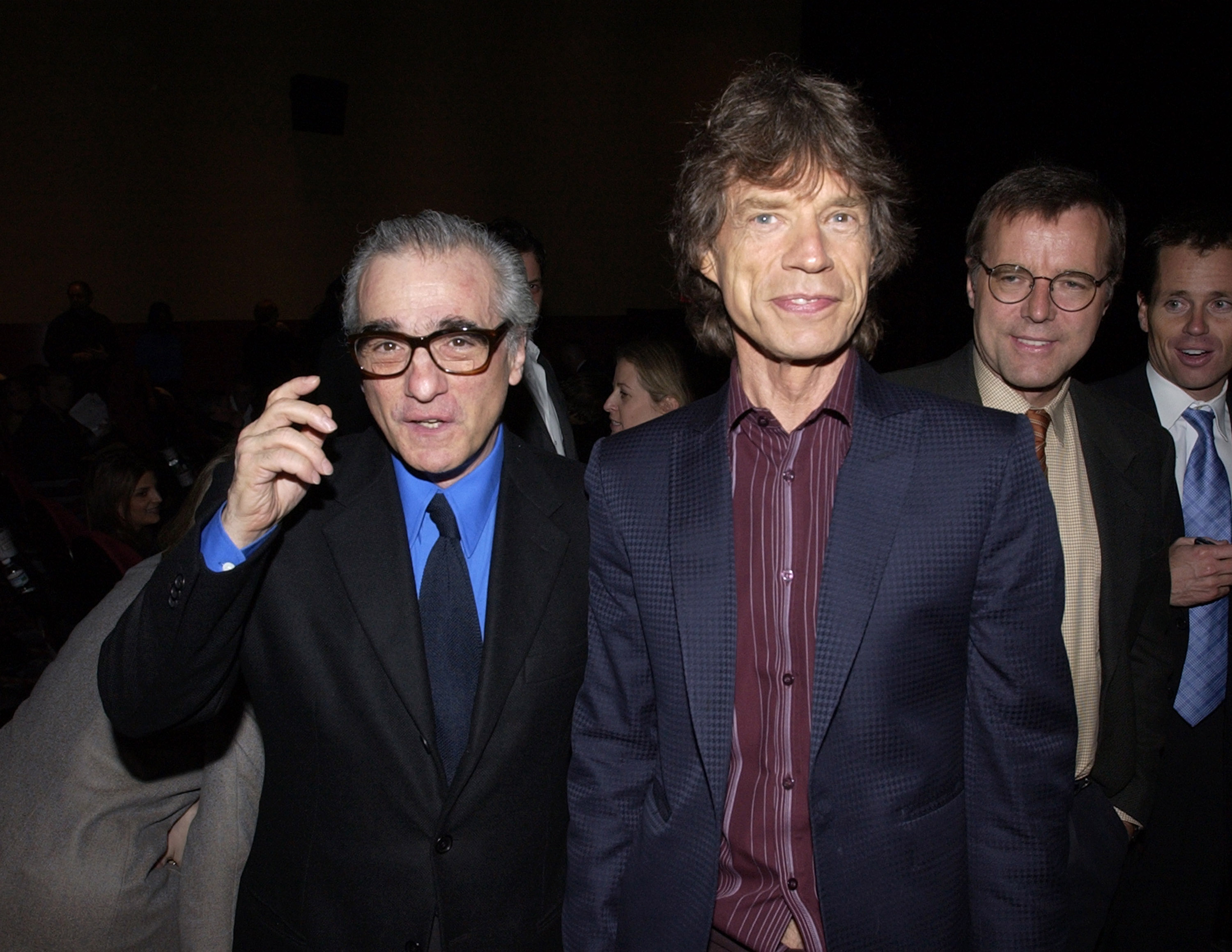 Martin Scorsese and producer Mick Jagger (Photo by KMazur/WireImage)