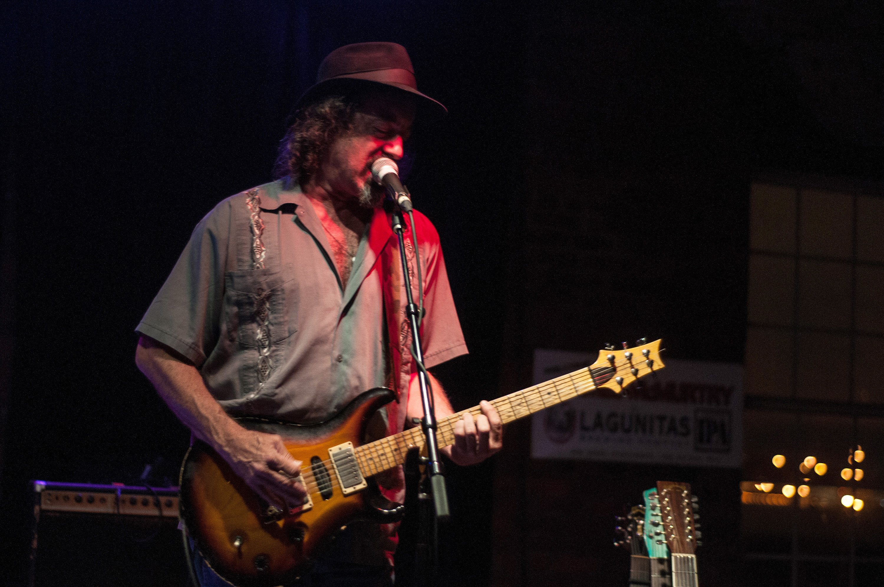 NASHVILLE, TN -  OCT 11:  James McMurtry performs at the Hi-Watt club in Nashville, Tennessee, on October 11, 2012. (Photo by