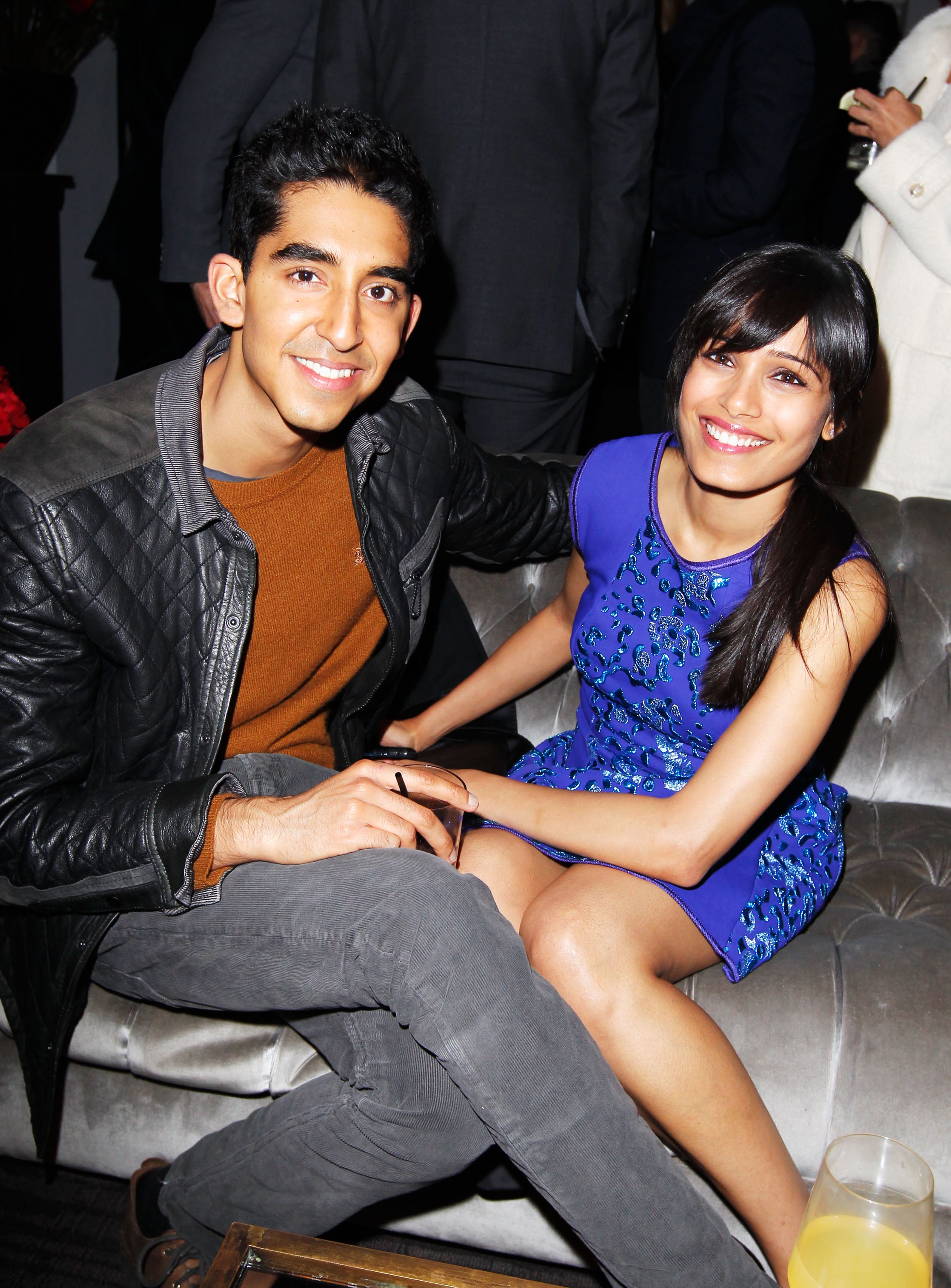LOS ANGELES, CA - JANUARY 11:  Actors Freida Pinto and Dev Patel attend W Magazine's 'Best Performances Issue? and the Golden