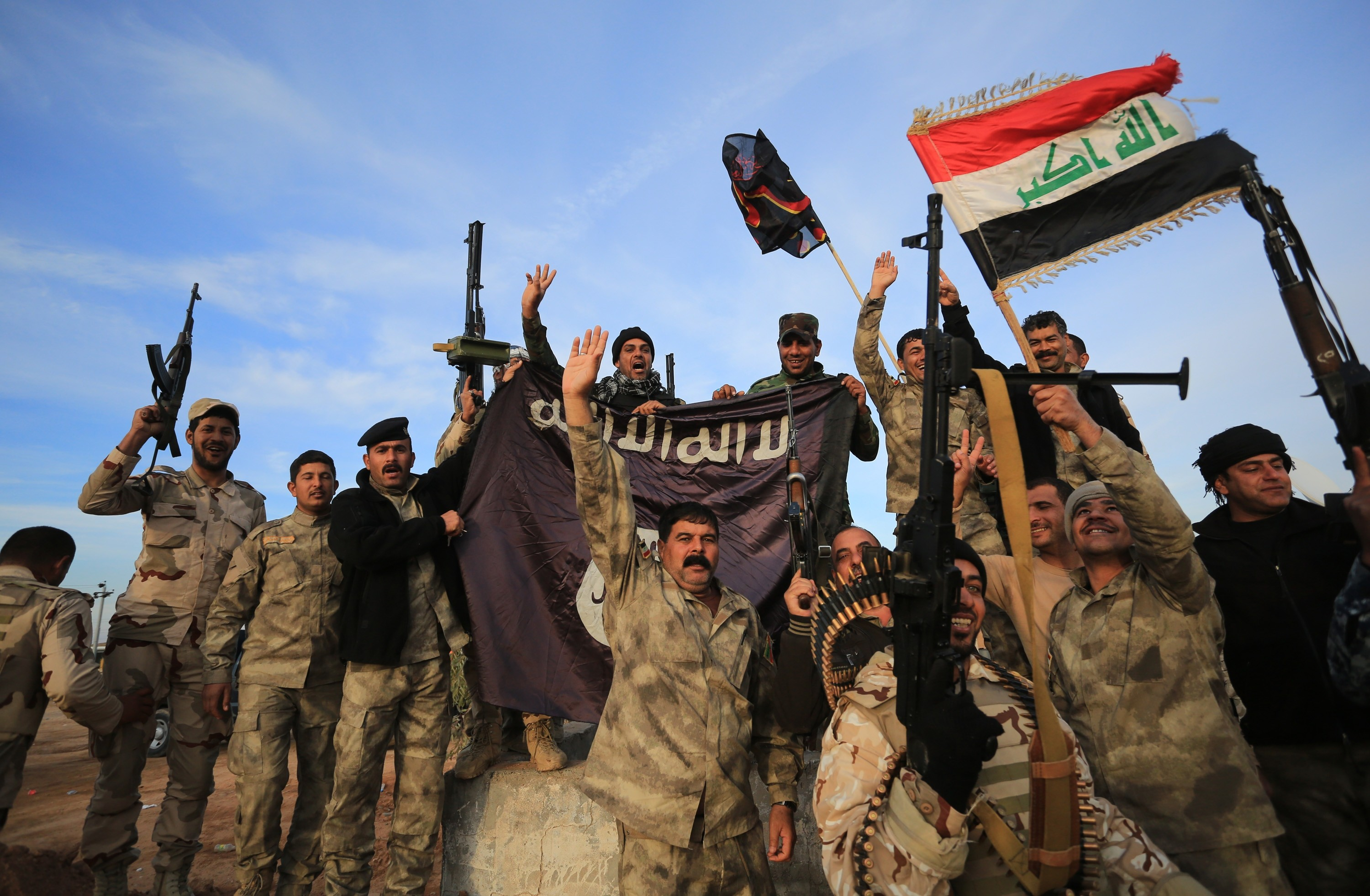 Iraq army forces and Peshmerga launch an US-led operation against Islamic State of Iraq and the Levant (ISIL) in Sadiye town