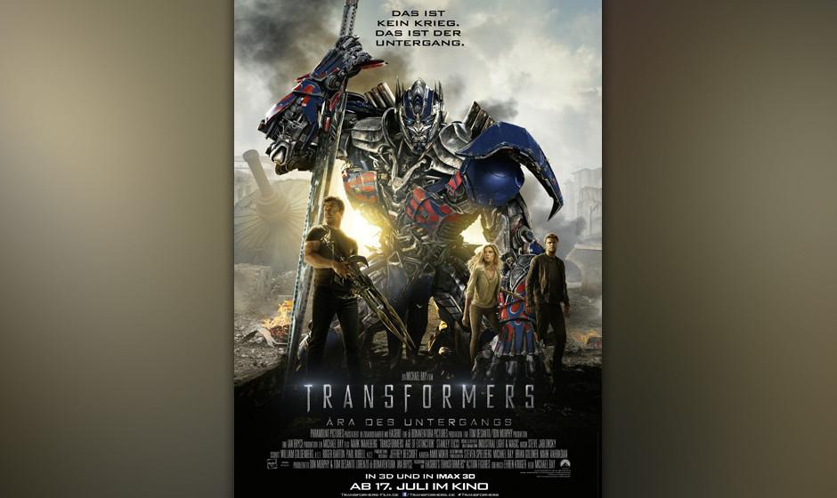 Platz 1 der Crème de la Shame: 'Transformers 4: Ära des Untergangs' - Mark Wahlberg Hier ist der Titel Programm. Der vierte