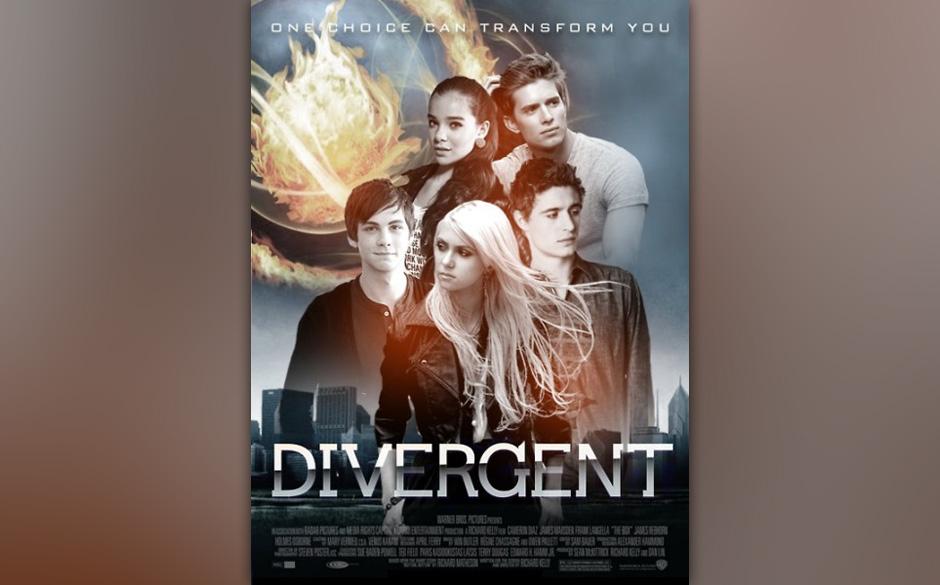 Platz 7: 'Divergent' - Neil Burger 'Divergent' bedient sich so offensichtlich an 'The Hunger Games', dass es schon weh tut. D