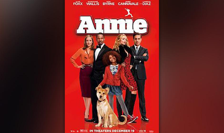 Platz 9: 'Annie' - Will Gluck Was eigentlich ein Feuerwerk an Qualität verspricht, nämlich Namen wie Jay-Z und Will Smith u
