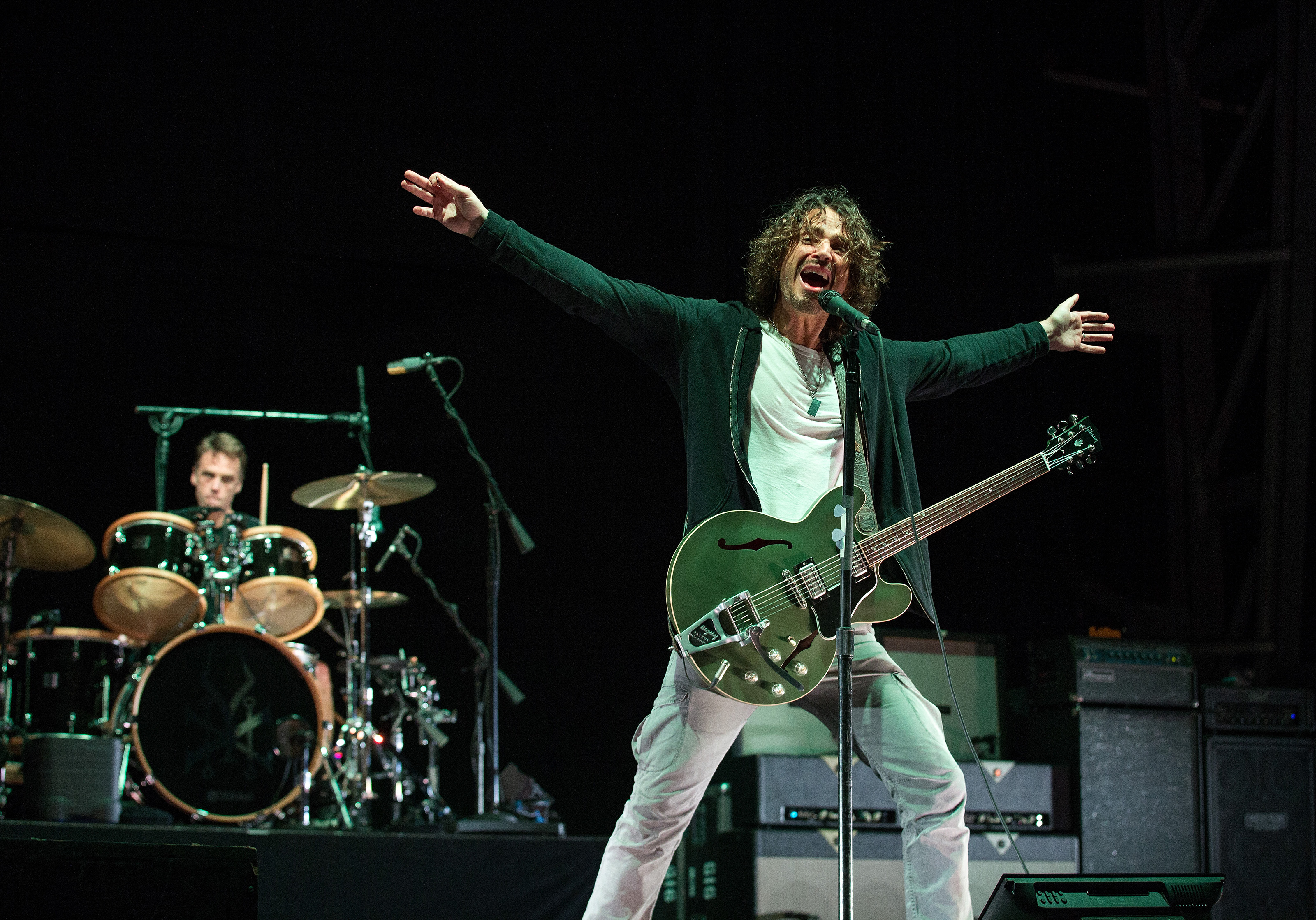 COLUMBUS, OH - MAY 19:  Soundgarden performs onstage during 2013 Rock On The Range at Columbus Crew Stadium on May 19, 2013 i