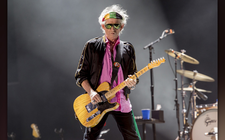 ROSKILDE, DENMARK - JULY 03:  Keith Richards from the Rolling Stones headlines the Roskilde Festival 2014 on July 3, 2014 in