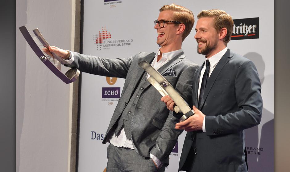 Joko Winterscheidt und Klaas Heufer-Umlauf Preistraeger - Verleihung des Musikpreises Echo 2014in der Messe Berlin