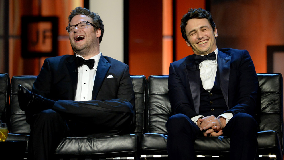 CULVER CITY, CA - AUGUST 25:  Roast Master Seth Rogen and roastee James Franco onstage during The Comedy Central Roast of Jam
