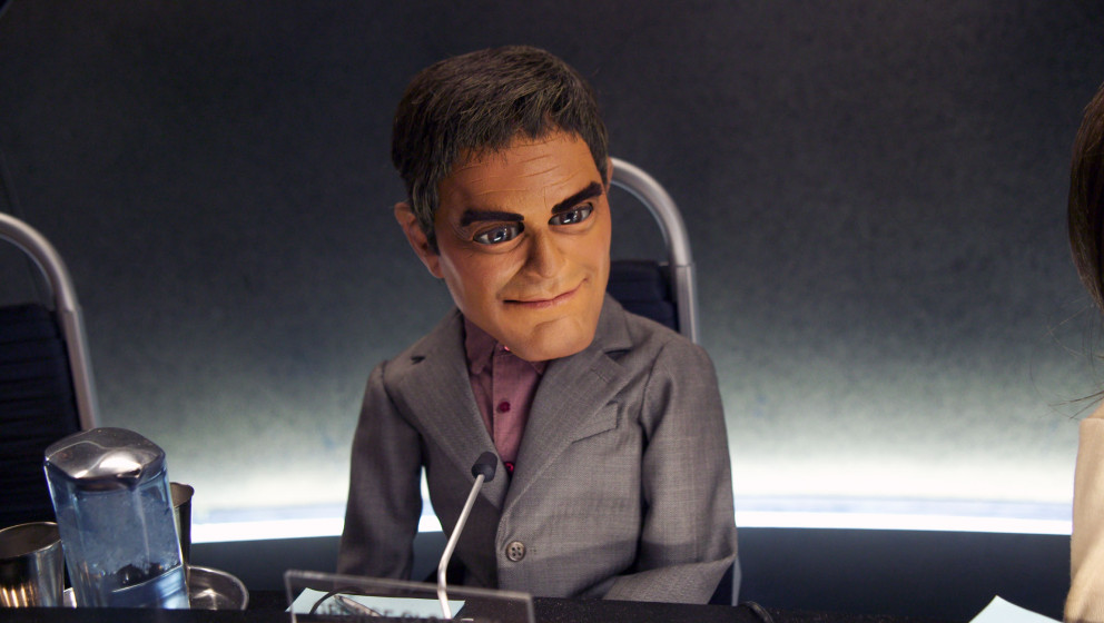 TEAM AMERICA: WORLD POLICE [US 2004]  GEORGE CLOONEY puppet     Date: 2004 (Mary Evans Picture Library) Keine Weitergabe an D