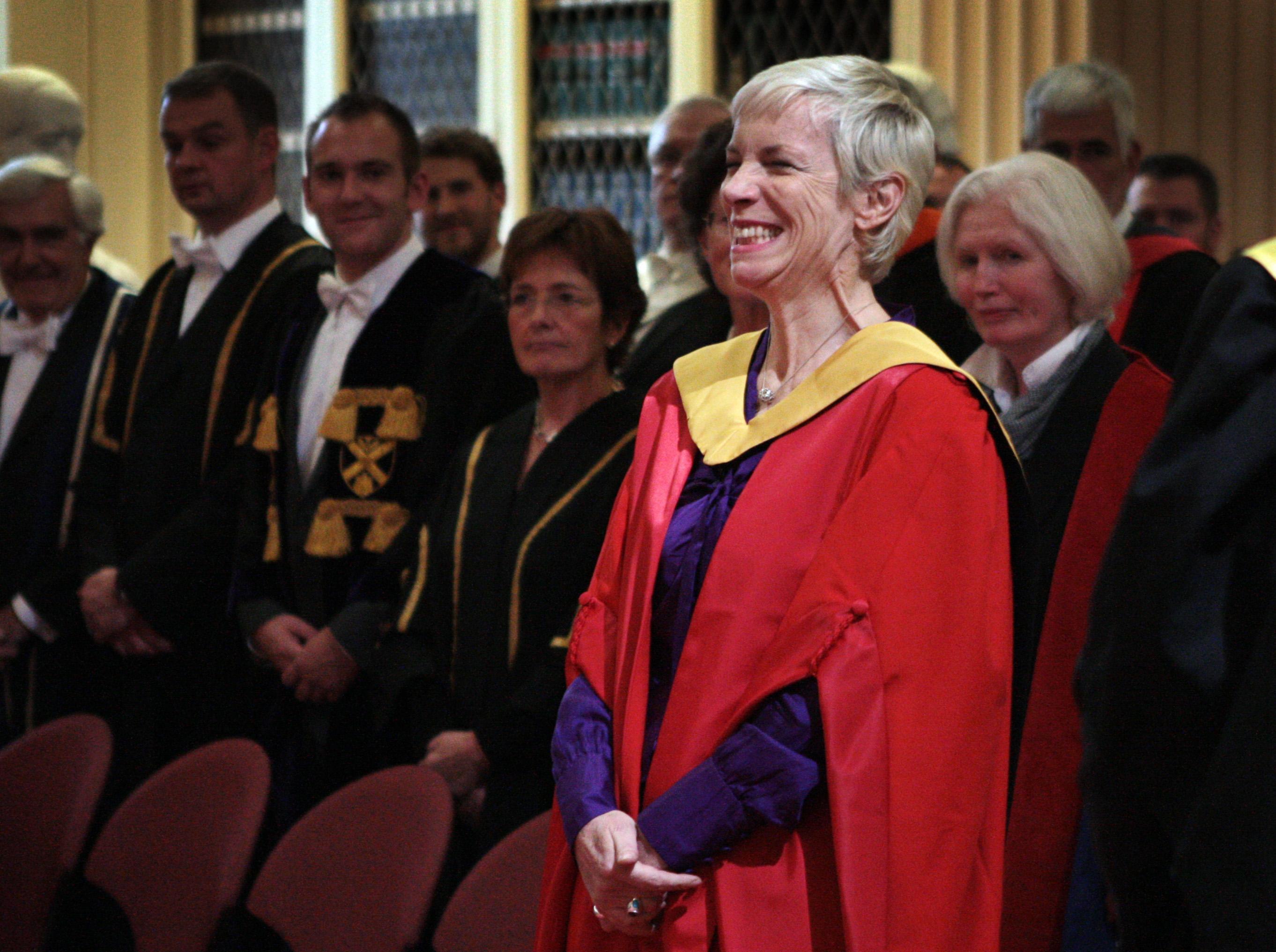 Annie Lennox at University of Edinburgh.Annie Lennox is in Edinburgh receives an honorary degree from the University of Edinb