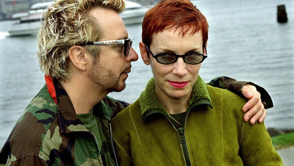 EURYTHMICS GIVE LIVE PERFORMANCE IN COPENHAGEN  British pop musicians ANNIE LENNOX and DAVE STEWART have re-established their