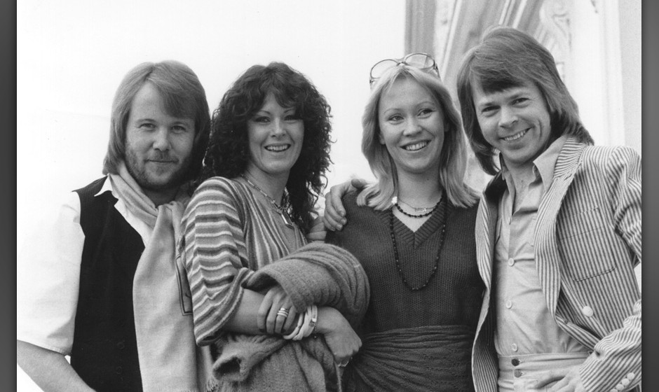 Swedish pop group Abba. From left to right: Benny Andersson, Anni-Frid Lyngstad, Agnetha Faltskog and Bjorn Ulvaeus. (Photo b