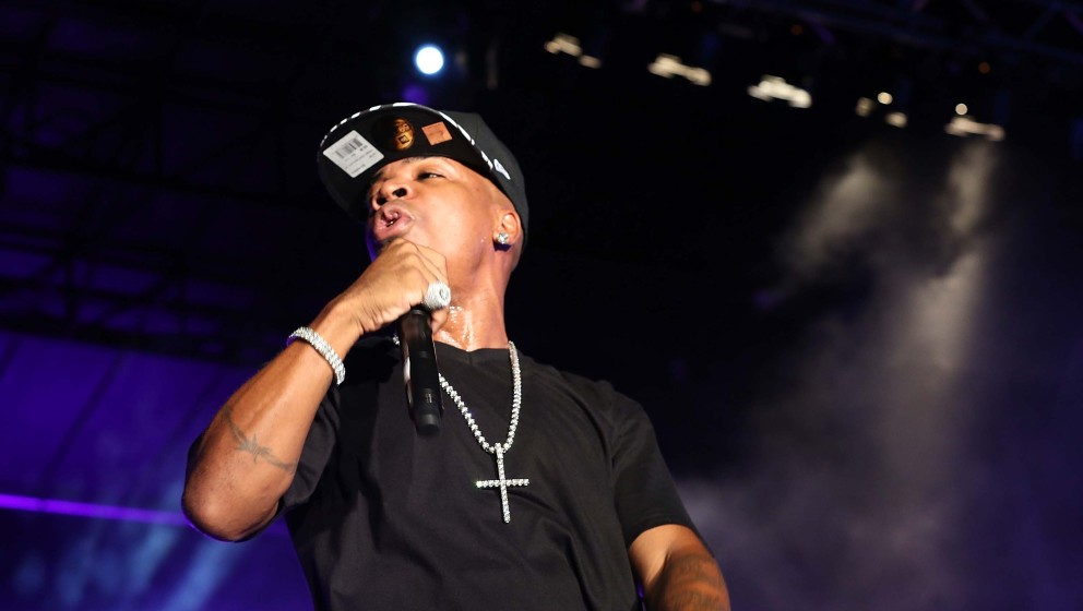 HALLANDALE, FL - AUGUST 17:  Plies  performs at Gulfstream Park on August 17, 2013 in Hallandale, Florida.  (Photo by Aaron D