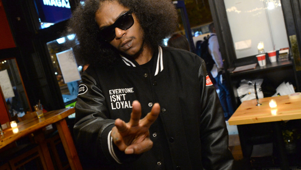 NEW YORK, NY - SEPTEMBER 16:  Rapper Ab-Soul attends the Elliott Wilson hosts CRWN with Ab-Soul for WatchLOUD.com, presented