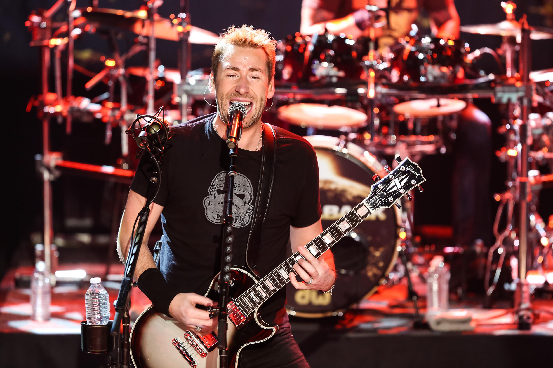 BURBANK, CA - NOVEMBER 18:  Musician Chad Kroeger of Nickelback performs at iHeartRadio Theater on November 18, 2014 in Burba