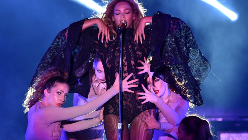 HOUSTON, TX - JULY 18:  Beyonce performs during the 'On The Run Tour: Beyonce And Jay-Z' at Minute Maid Park on July 18, 2014