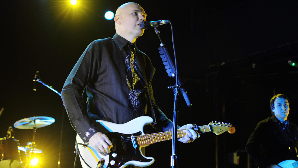 LONDON, UNITED KINGDOM - DECEMBER 05: Billy Corgan of the Smashing Pumpkins performs on stage at KOKO on December 5, 2014 in