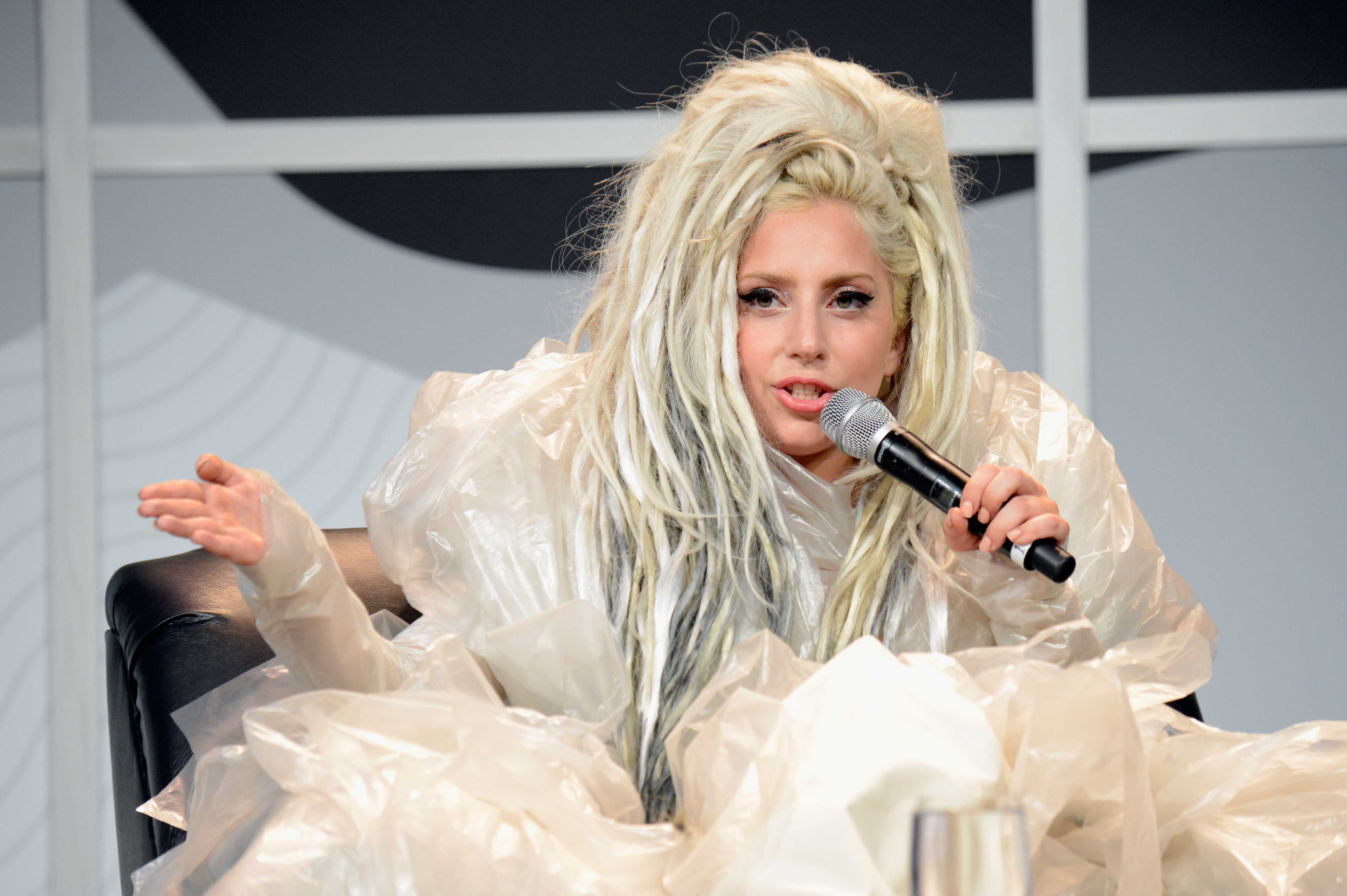 AUSTIN, TX - MARCH 14:  Musician Lady Gaga speaks during Keynote at SXSW at Austin Convention Center on March 14, 2014 in Aus