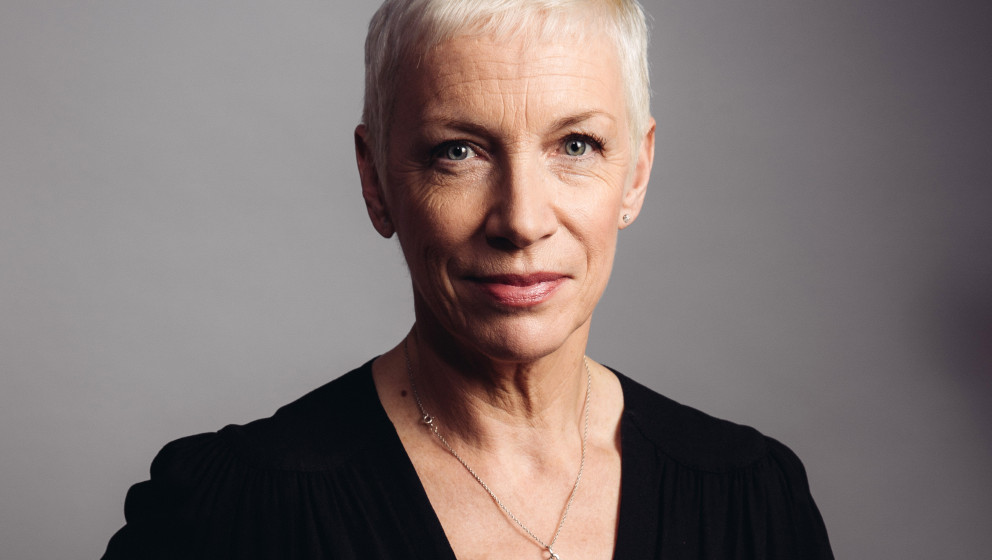 In this Oct. 9, 2014 photo, musician Annie Lennox poses for a portrait during an interview in Los Angeles to promote her new