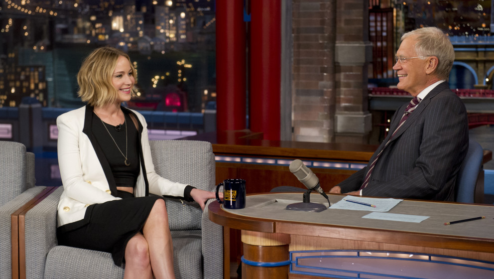 Image #: 33133192    Actress Jennifer Lawrence chats with Dave on the Late Show with David Letterman, Wednseday Nov. 11, 2014