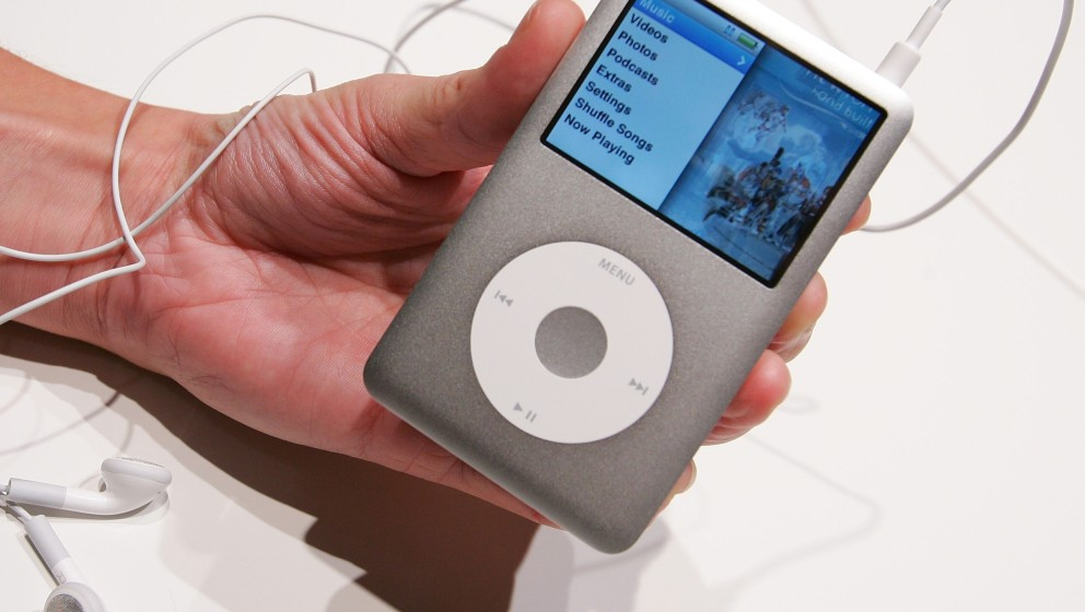 LONDON - SEPTEMBER 05:  The new Ipod Classic is held at the UK launch of the product at the BBC on September 5, 2007 in Londo