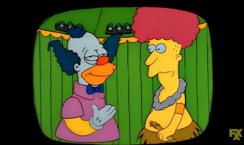 Sideshow-Bob erschien zunächst als dumpfbackiger Assistent von Krusty dem Clown und wandelte sich erst später zum Intellekt