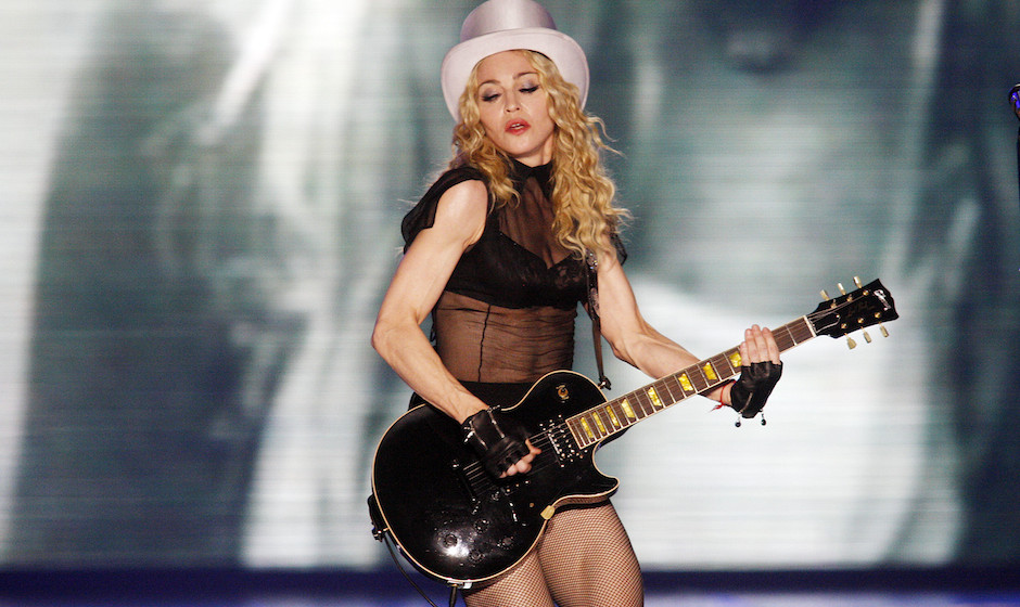 <> during her 'Sticky & Sweet' tour at Boardwalk Hall on November 22, 2008 in Atlantic City, New Jersey.