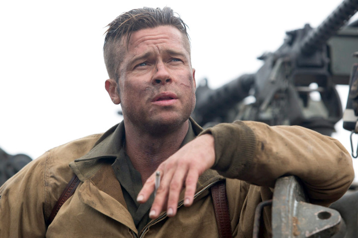 FURY - 2014 FILM STILL -  Wardaddy (Brad Pitt) - Photo Credit: Giles Keyte